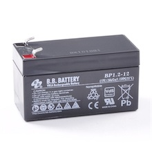 12V 1.2Ah Battery, Sealed Lead Acid battery (AGM), B.B. Battery BP1.2-12, VdS, 97x45x53 mm (LxWxH), Terminal T1 Faston 187 (4,75 mm)