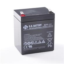 12V 5Ah battery, Sealed Lead Acid battery (AGM), B.B. Battery BP5-12, 90x70x102 mm (LxWxH), Terminal T2 Faston 250 (6,3 mm)