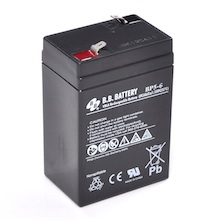 6V 5Ah Battery, Sealed Lead Acid battery (AGM), B.B. Battery BP5-6, 70x48x102 mm (LxWxH), Terminal T1 Faston 187 (4,75 mm)