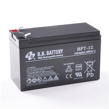 12V 7Ah battery, Sealed Lead Acid battery (AGM), B.B. Battery BP7-12, 151x65x93 mm (LxWxH), Terminal T2 Faston 250 (6,3 mm)
