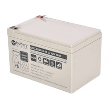12V 12Ah battery, cyclic Sealed Lead Acid battery (AGM), battery-direct CYC-AGM-12-12, 151x98x94 mm (LxWxH), Terminal T2 Faston 250 (6,3mm)