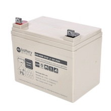 12V 33Ah battery, cyclic Sealed Lead Acid battery (AGM), battery-direct CYC-AGM-12-33, 195x129x155 mm (LxWxH), Terminal B7 (Fitting M6 bolt and nut)