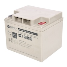 12V 40Ah battery, cyclic Sealed Lead Acid battery (AGM), battery-direct CYC-AGM-12-40, 197x165x171 mm (LxWxH), Terminal I2 (Insert M6)