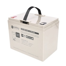 12V 80Ah battery, cyclic Sealed Lead Acid battery (AGM), battery-direct CYC-AGM-12-80, 260x168x215 mm (LxWxH), Terminal I2 (Insert M6)