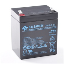 12V 5.8Ah Battery, Sealed Lead Acid battery (AGM), B.B. Battery HR5.8-12, 90x70x102 mm (LxWxH), Terminal T2 Faston 250 (6,3 mm)