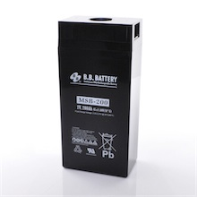 2V 300Ah battery, Sealed Lead Acid battery (AGM), B.B. Battery MSB-300, 171x151x358 mm (LxWxH), Terminal B6 (fitting M8 bolt and nut)