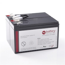 Battery kit for APC Back UPS BX 1100, replaces APCRBC113