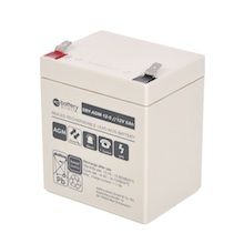 12V 5Ah battery, Sealed Lead Acid battery (AGM), battery-direct SBY-AGM-12-5, 90x70x101 mm (LxWxH), Terminal T2 Faston 250 (6,3 mm)
