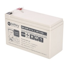 12V 7.2Ah battery, Sealed Lead Acid battery (AGM), battery-direct SBY-AGM-12-7.2, 151x65x94 mm (LxWxH), Terminal T2 Faston 250 (6,3 mm)