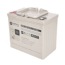 12V 55Ah Battery, Sealed Lead Acid battery (AGM), battery-direct SBYHL-AGM-12-55, 228x139x200 mm (LxWxH), Terminal I2 (Insert M6)