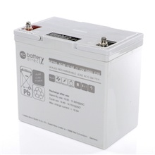12V 58Ah battery, Sealed Lead Acid battery (AGM), battery-direct SBYHL-AGM-12-58, 229x138x208 mm (LxWxH), Terminal I2 (Insert M6)