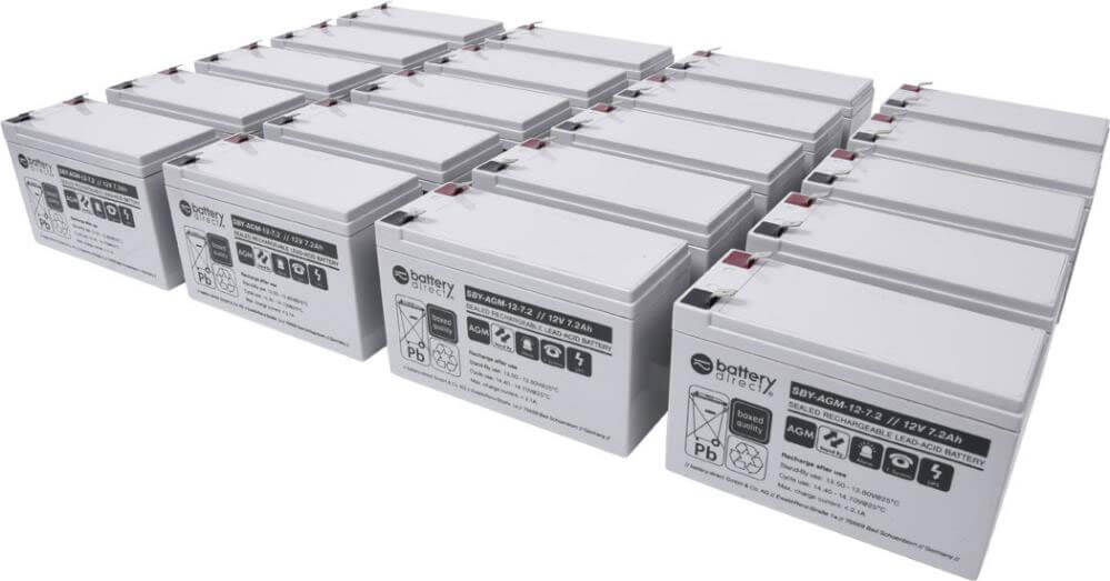 Replacement batteries for EATON UPS 9130 5000/6000 EBM