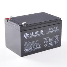 12V 12Ah Battery, Sealed Lead Acid battery (AGM), B.B. Battery BP12-12, VdS, 151x98x94 mm (LxWxH), Terminal T2 Faston 250 (6,3 mm)