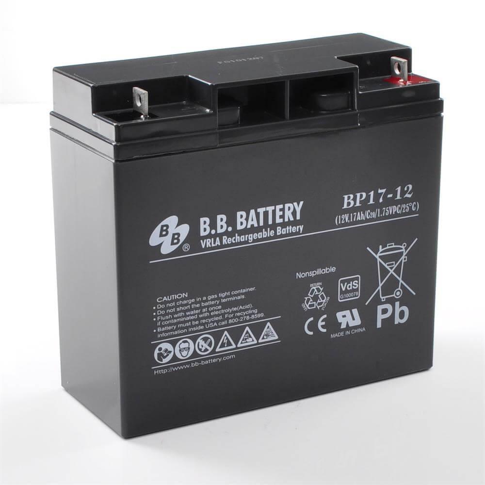 12v 17ah battery sealed lead acid battery agm b b battery bp17 12 vds 181x76x166 mm. Black Bedroom Furniture Sets. Home Design Ideas