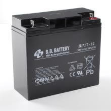 12V 17Ah battery, Sealed Lead Acid battery (AGM), B.B. Battery BP17-12, VdS, 181x76x166 mm (LxWxH), Terminal B1 (Fitting M5 bolt and nut)