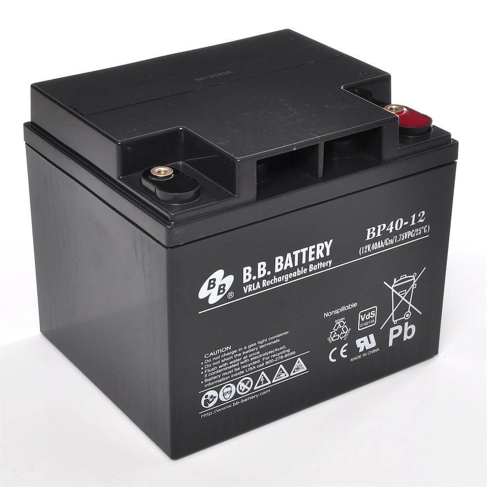 12v 40ah battery sealed lead acid battery agm b b battery bp40 12 vds 197x165x171 mm. Black Bedroom Furniture Sets. Home Design Ideas