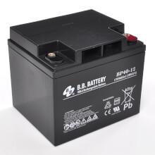 12V 40Ah battery, Sealed Lead Acid battery (AGM), B.B. Battery BP40-12, VdS, 197x165x171 mm (LxWxH), Terminal I2 (Insert M6)