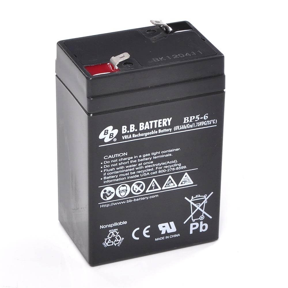6v 5ah battery sealed lead acid battery agm b b battery bp5 6 70x48x102 mm lxwxh. Black Bedroom Furniture Sets. Home Design Ideas