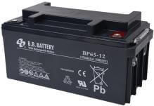 12V 65Ah Battery, Sealed Lead Acid battery (AGM), B.B. Battery BP65-12, 350x166x174 mm (LxWxH), Terminal I2 (Insert M6)