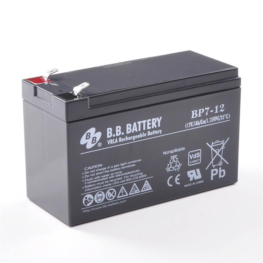 12 V Batterie LEAD CRYSTAL 7,2//7,8 Ah