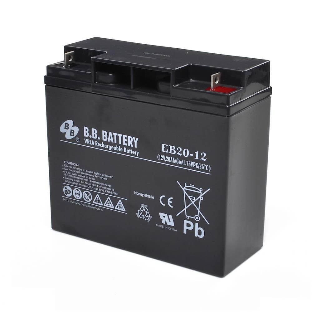 12v 20ah battery sealed lead acid battery agm b b battery eb20 12 181x76x166 mm lxwxh. Black Bedroom Furniture Sets. Home Design Ideas