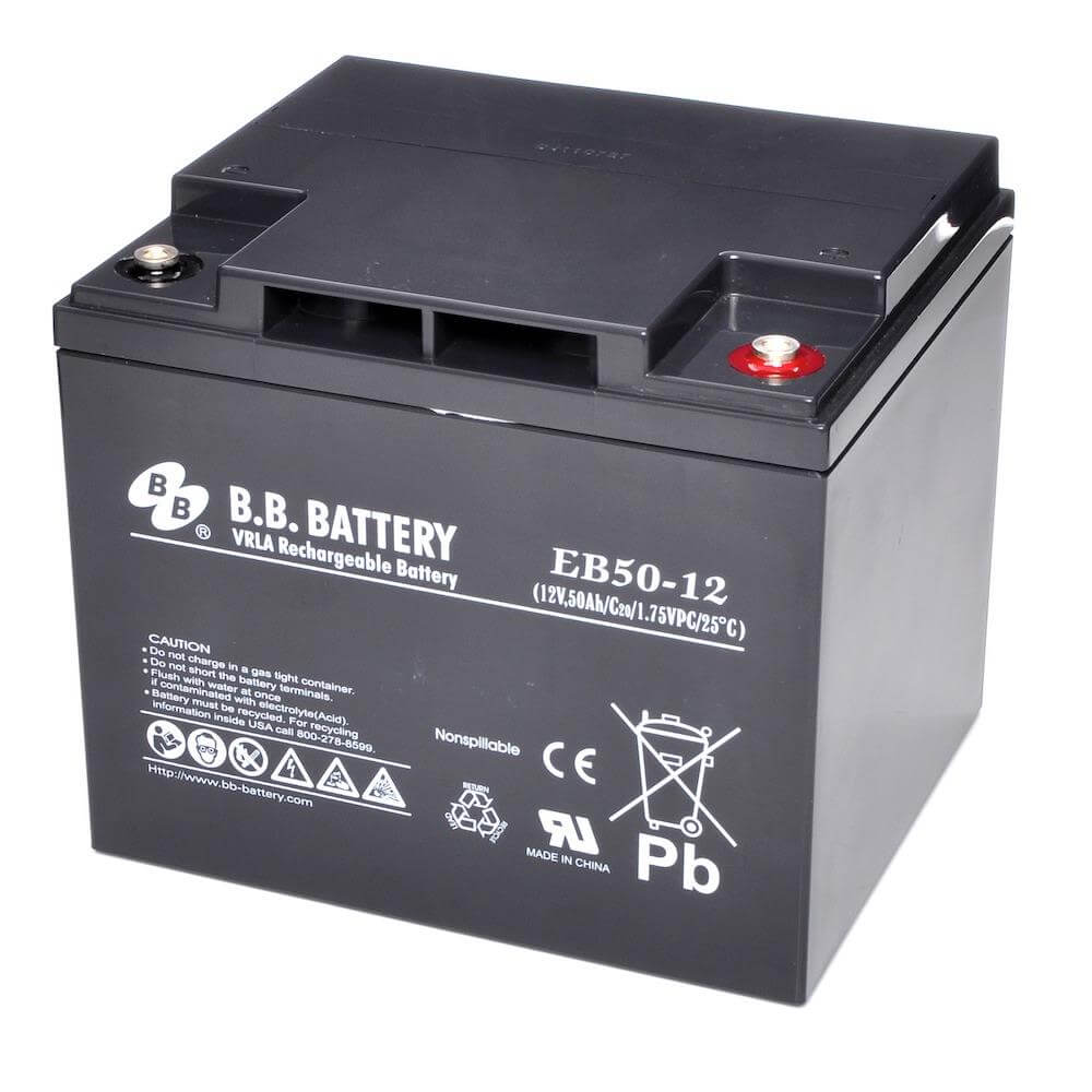 12v 50ah battery sealed lead acid battery agm b b battery eb50 12 197x165x171 mm lxwxh. Black Bedroom Furniture Sets. Home Design Ideas