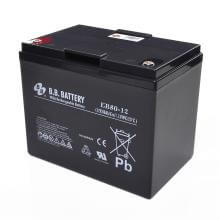 12V 80Ah Battery, Sealed Lead Acid battery (AGM), B.B. Battery EB80-12, 260x165x209 mm (LxWxH), Terminal I2 (Insert M6)