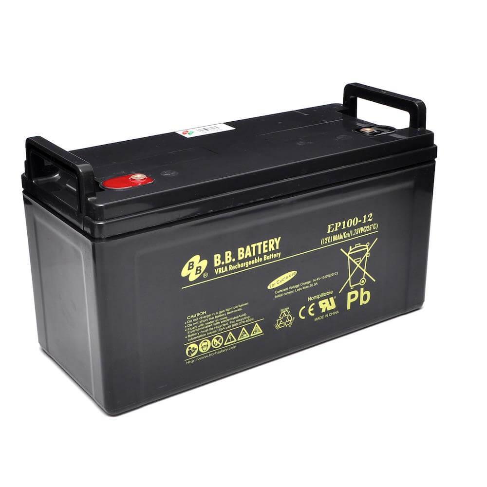 b b battery ep100 12 12v 100ah sealed lead acid battery. Black Bedroom Furniture Sets. Home Design Ideas