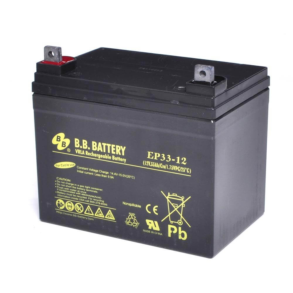 12v 33ah battery sealed lead acid battery agm b b battery ep33 12 195x129x155 mm lxwxh. Black Bedroom Furniture Sets. Home Design Ideas