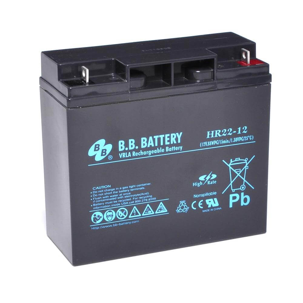 12v 22ah battery sealed lead acid battery agm b b battery hr22 12 181x76x166 mm lxwxh. Black Bedroom Furniture Sets. Home Design Ideas