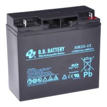 B.B. Battery HR22-12, 12V 22Ah, Sealed Lead Acid battery (AGM), 181x76x166 mm (LxWxH), Terminal B1 (Fitting M5 bolt and nut)