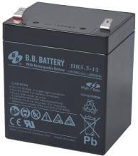 12V 5.5Ah Battery, Sealed Lead Acid battery (AGM), B.B. Battery HR5.5-12, 90x70x102 mm (LxWxH), Terminal T2 Faston 250 (6,3 mm)