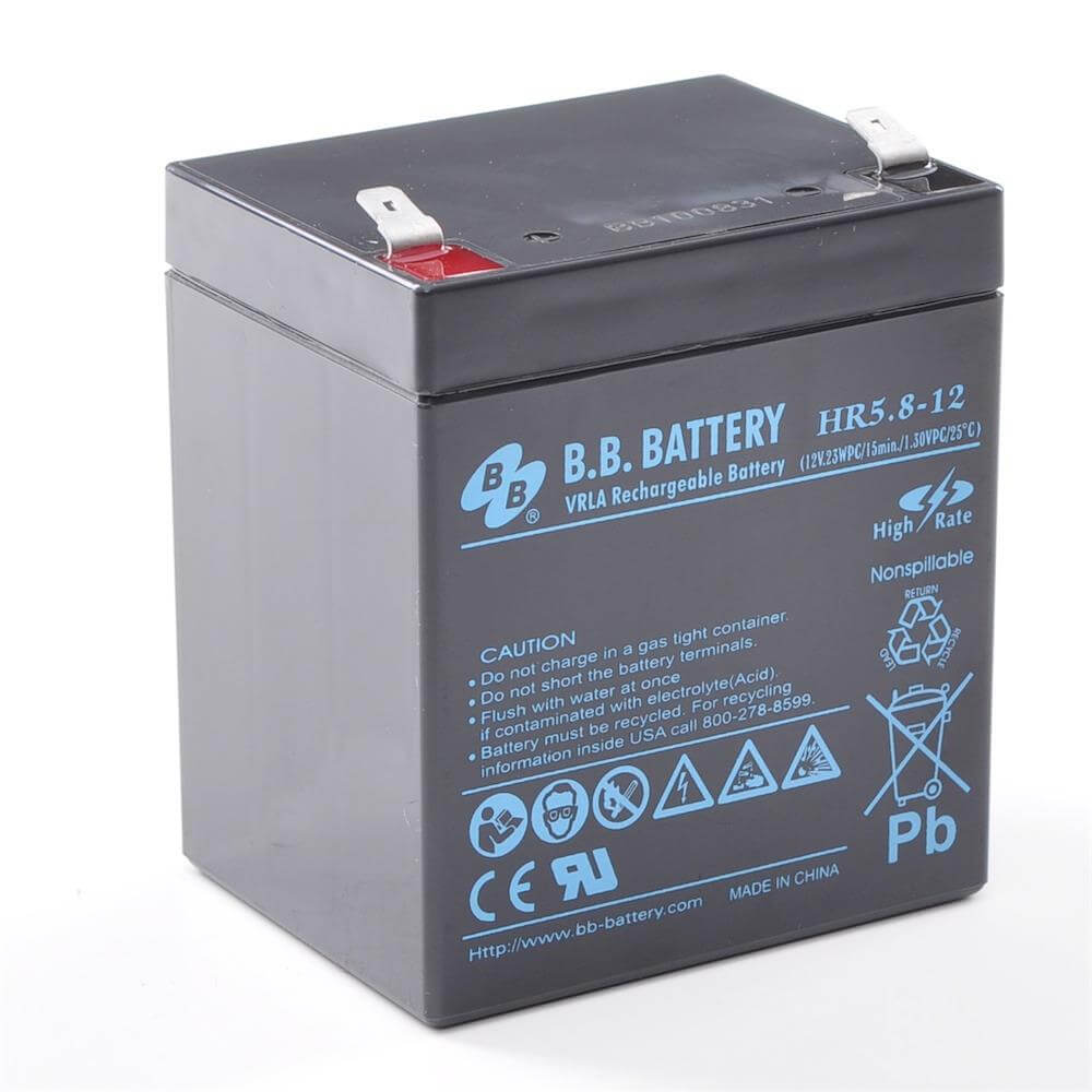 12v 5 8ah battery sealed lead acid battery agm b b battery hr5 8 12 90x70x102 mm lxwxh. Black Bedroom Furniture Sets. Home Design Ideas
