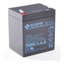 12V 5.8Ah battery, Sealed Lead Acid battery (AGM), B.B. Battery HR5.8-12, 90x70x102 mm (LxWxH), Terminal T2 Faston 250 (6,3 mm)