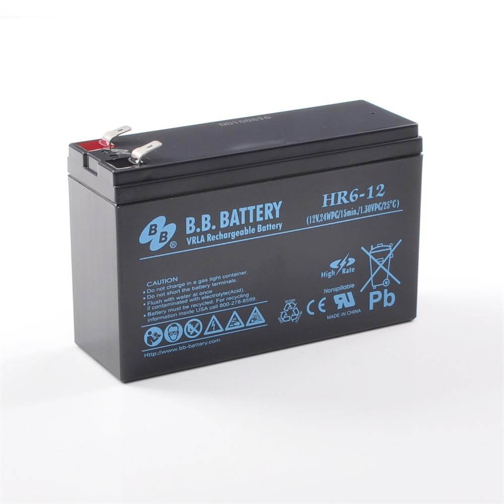12v 6ah battery sealed lead acid battery agm b b battery hr6 12 151x51x94 mm lxwxh. Black Bedroom Furniture Sets. Home Design Ideas