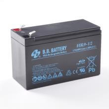 12V 9Ah Battery, Sealed Lead Acid battery (AGM), B.B. Battery HR9-12, 151x65x94 mm (LxWxH), Terminal T2 Faston 250 (6,3 mm)