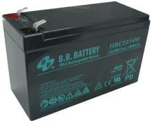 12V 9Ah battery, Sealed Lead Acid battery (AGM), B.B. Battery HRC1234W, 151x65x94 mm (LxWxH), Terminal T2 Faston 250 (6,3 mm)