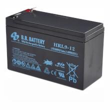 12V 9Ah battery, Sealed Lead Acid battery (AGM), B.B. Battery HRL9-12, 151x65x94 mm (LxWxH), Terminal T2 Faston 250 (6,3 mm)