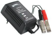 MEC plug-in charger 12V/1.5A, AGM-, Gel- and Wet-batteries