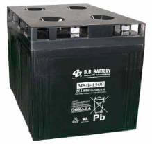 2V 1500Ah Battery, Sealed Lead Acid battery (AGM), B.B. Battery MSB-1500, 400x350x369 mm (LxWxH), Terminal B6 (Fitting M8 bolt and nut)