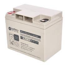 12V 40Ah battery, Sealed Lead Acid battery (AGM), battery-direct SBYHL-AGM-12-40, 195x129x168 mm (LxWxH), Terminal I2 (Insert M6)